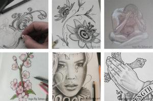 Inge Pip: Van reclametekenen naar tatoeëren en tepeltatoeages.