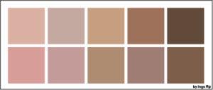 Kleur bepalen bij een blijvende tepeltattoo, tepelreconstructie.